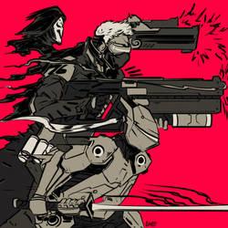 Reaper.Soldier.Genji doodle by C-CLANCY