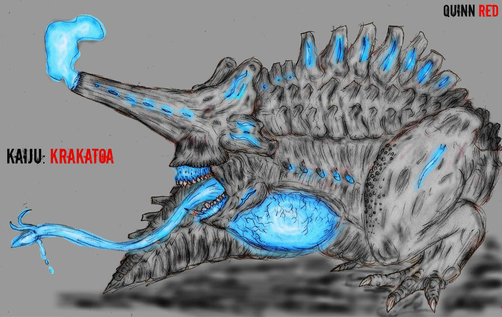 Pacific Rim fan Kaiju: Krakatoa by Quinn-Red on DeviantArt Pacific Rim Kaiju Category 3