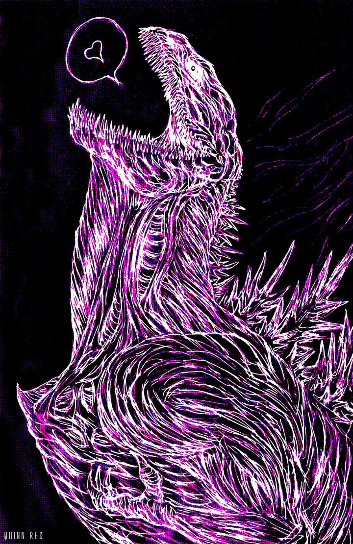 Shin Neon Godzilla by Quinn-Red