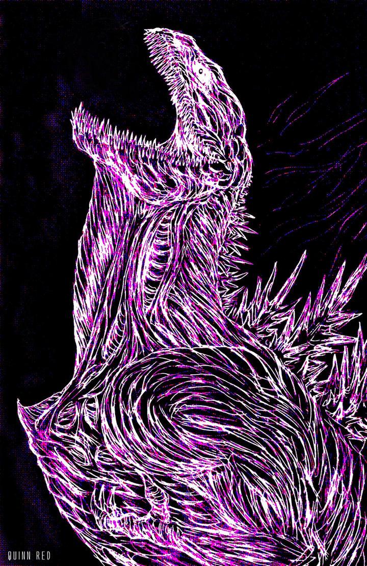 Shin Neon Godzilla Heartless by Quinn-Red