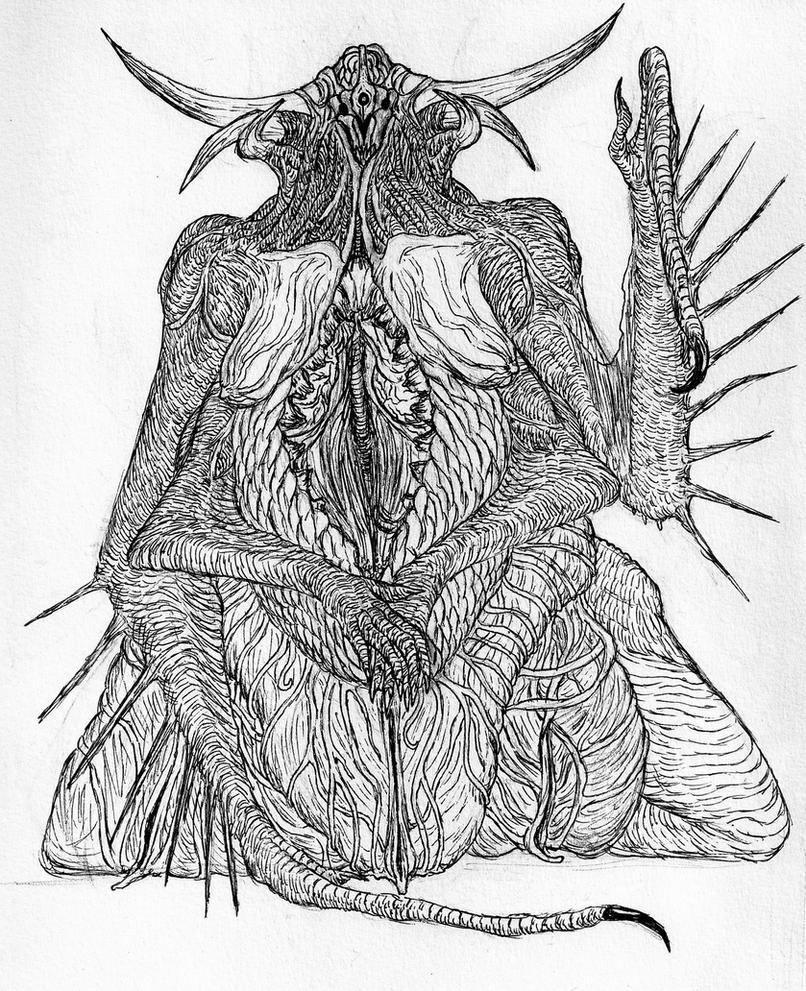 Vulgoth Matriarch (Concept) by Quinn-Red
