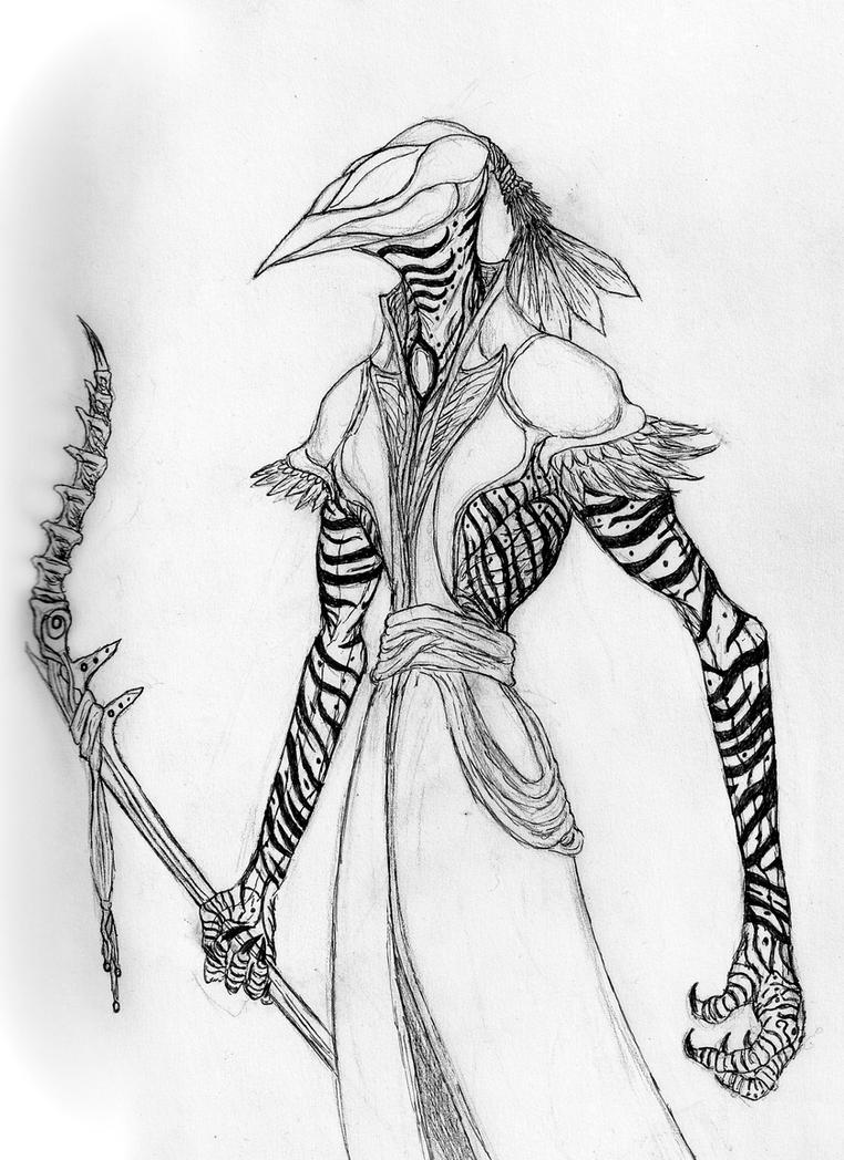 Ascended Lorperor (closed beak concept) by Quinn-Red