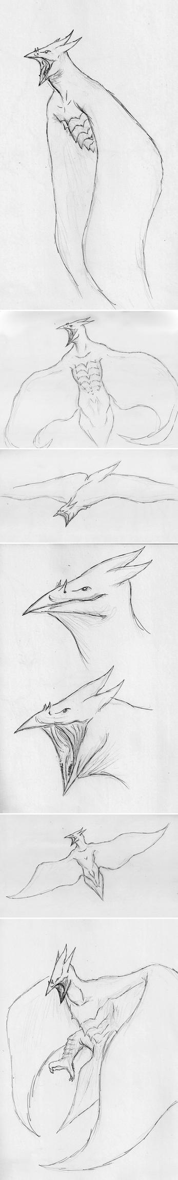 Rough Legendary Rodan Concept Stuff by Quinn-Red