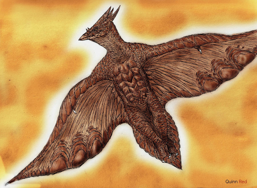 'Classic' Sea Turtle Rodan by Quinn-Red