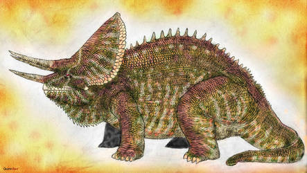 Land of Scales: Triceros (Chamaeursus Horridus) by Quinn-Red