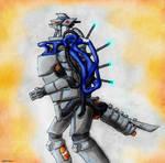 MonsterMarch #17 - PROTOTYPE : MECHAGODZILLA by Quinn-Red