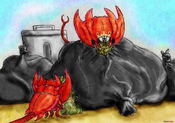 MonsterMarch #22 - Urban Destroyah by Quinn-Red