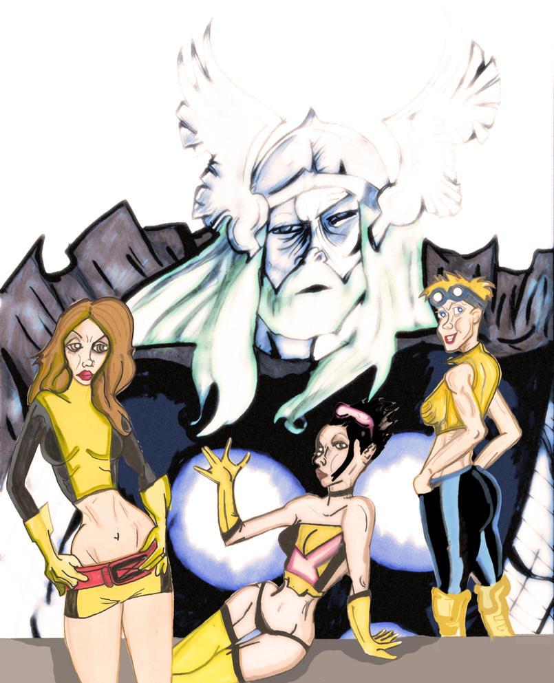 New Mutants in Asgard by losman126