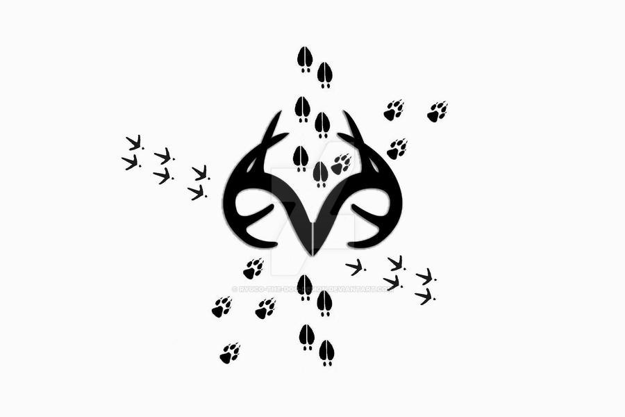 Realtree Antler Logo Tattoo