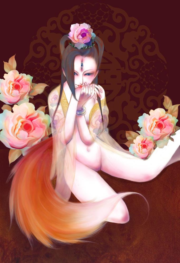 fox maiden by nekopin