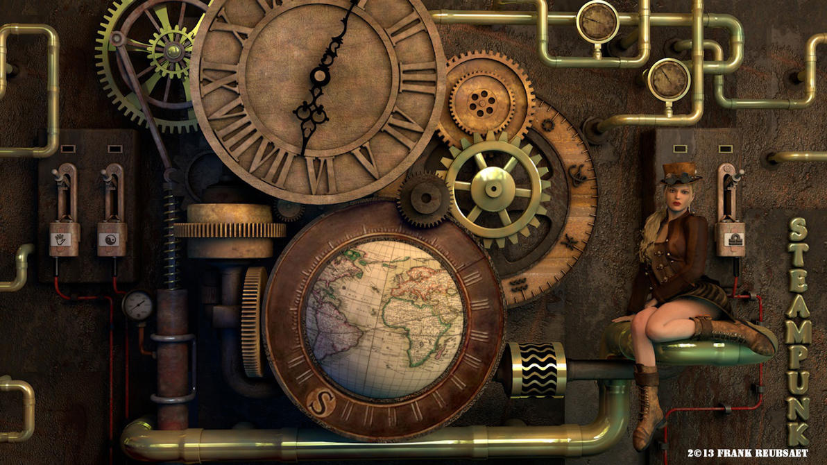 3d Steampunk Clock By Freuby On Deviantart