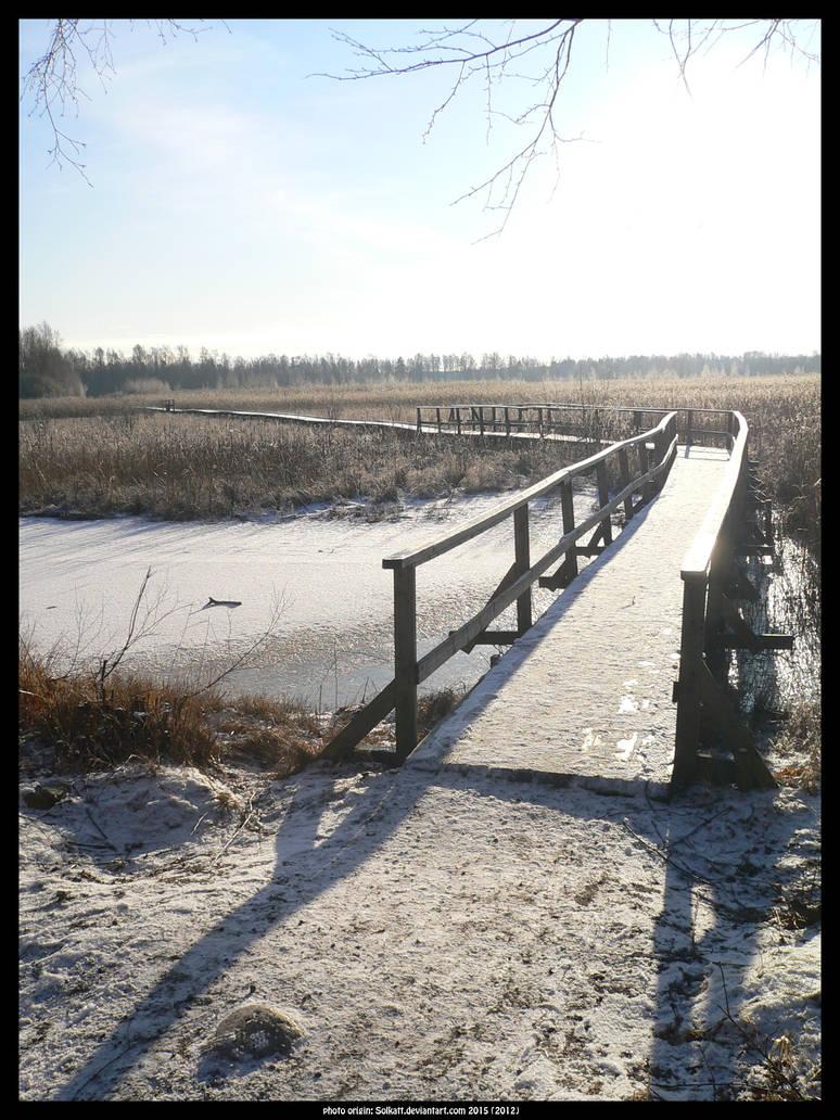Frosty winter bridge