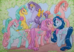 Sweet heart sister ponies by Solkatt