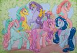 Sweet heart sister ponies