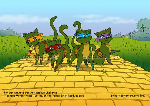 Fan Art Mashup Challenge TMNT as cats