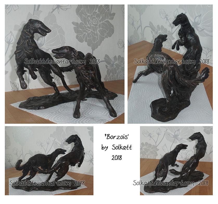 Borzoi sculpture