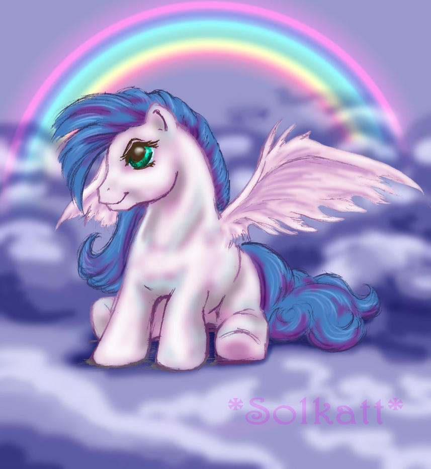 Winged little pony by Solkatt
