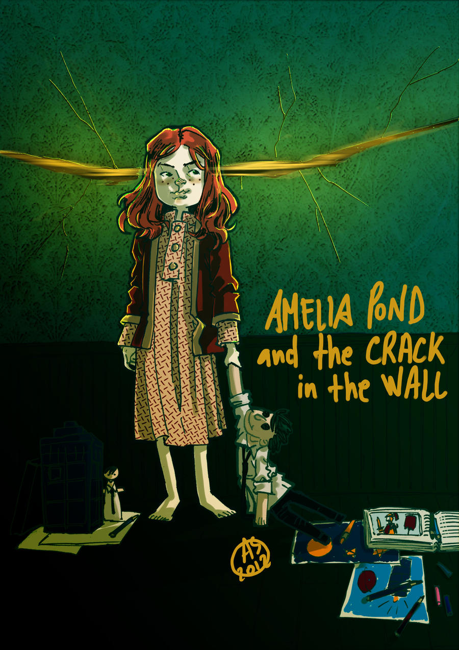 Amelia Pond and the crack in the wall by AkumA-die