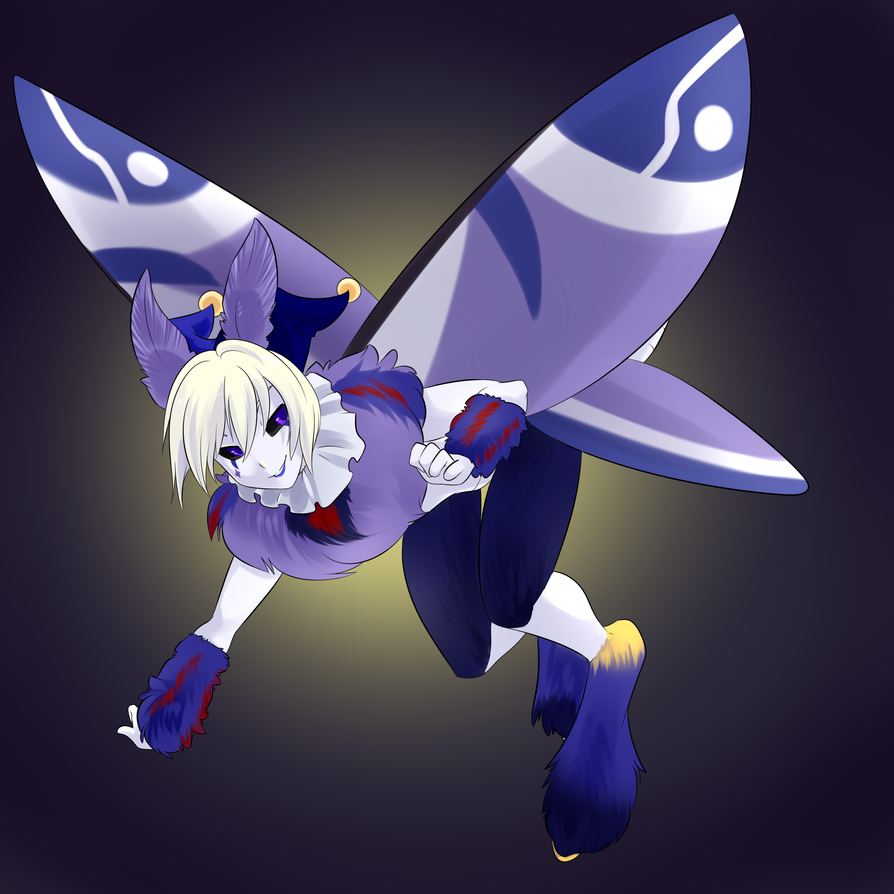 Fluttering Harlequin (SpazzyKoneko) by derpharlequin