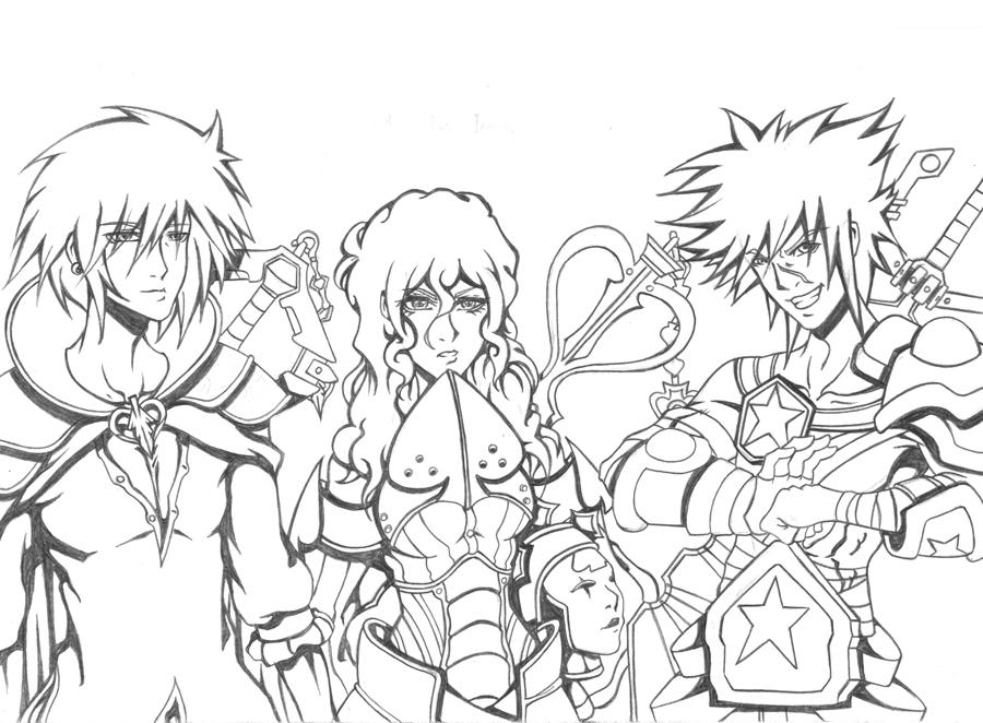 Kingdom Hearts Lineart : Kingdom hearts oc masters lineart by as on deviantart