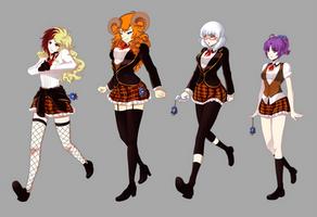 RWBY OC: SHAE school uniform by 21as