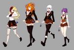 RWBY OC: SHAE school uniform