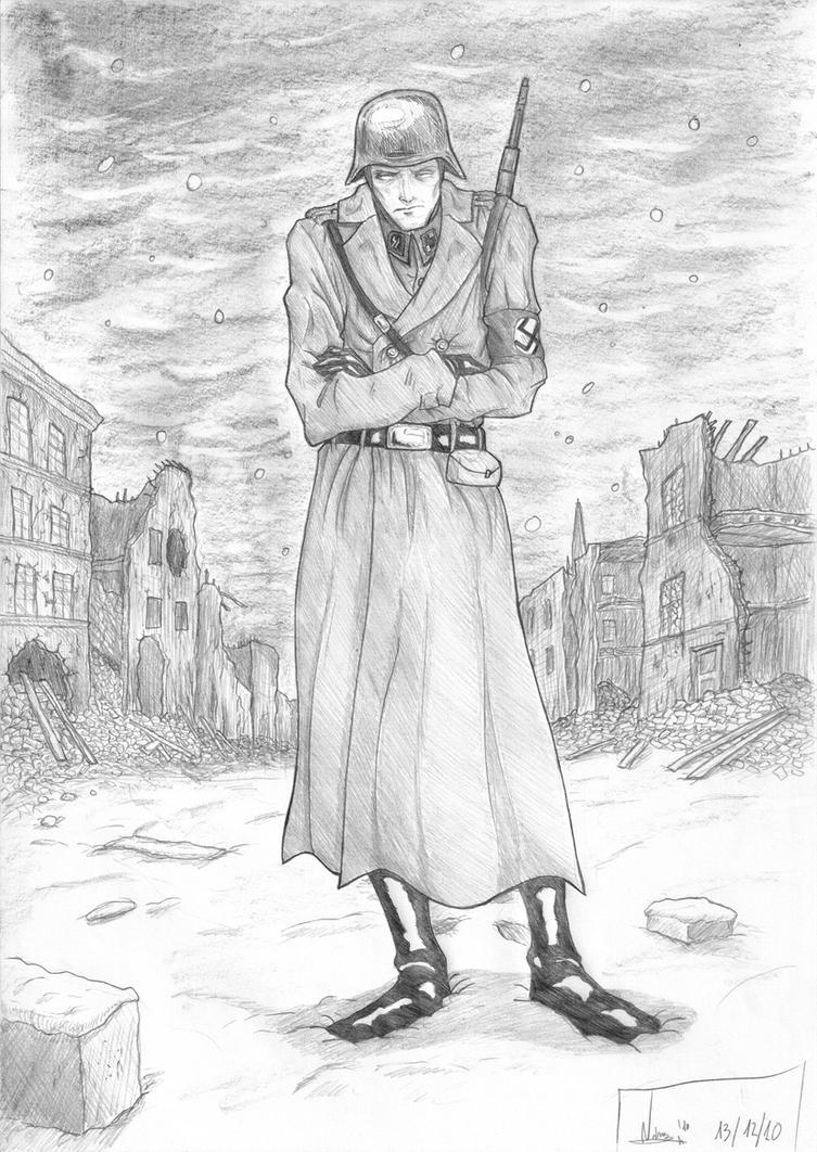 Nazi Soldier by AtermisHammerstein