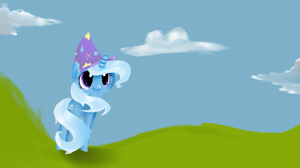 The great and powerful lineless! -Trixie- by Lol-Tusci