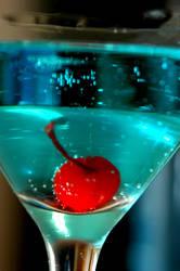 Still Life: Blue Martini II by LDFranklin