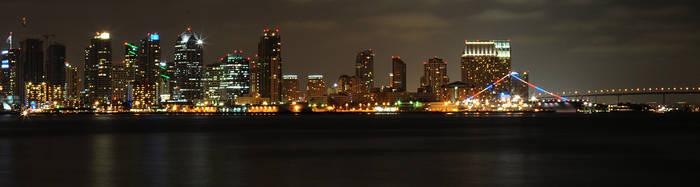 Downtown Night III by LDFranklin