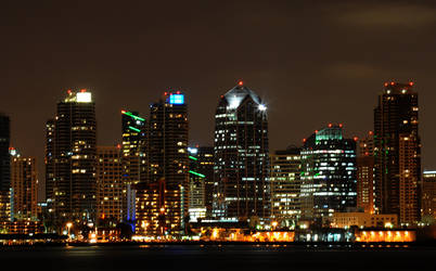 Downtown Night IV by LDFranklin