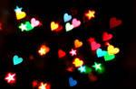 Heart + Star Bokeh Texture 1