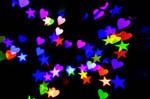 Heart + Star Bokeh Texture 2