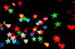 Heart + Star Bokeh Texture 3