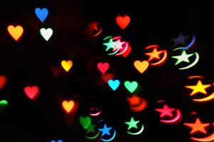 Heart + Star Bokeh Texture 4 by LDFranklin