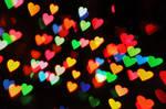 Heart Bokeh Texture 4