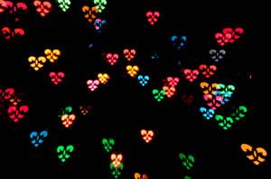Heart Pattern Bokeh Texture by LDFranklin