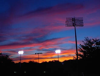 Sunset Over The Stadium 7 by LDFranklin