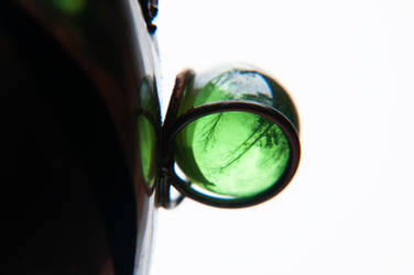 Green Glass Ball by LDFranklin