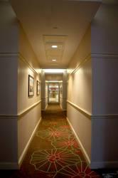 Hotel Hallway by LDFranklin