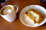Starbucks Flat White And Cheese Danish by LDFranklin