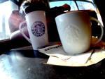 Starbucks Cups by LDFranklin
