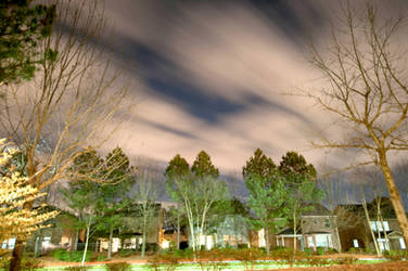 Cloudy Night Long Exposure II by LDFranklin