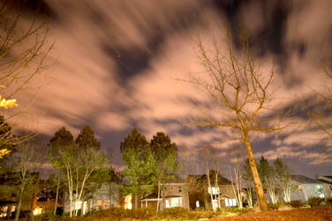 Cloudy Night Long Exposure I by LDFranklin