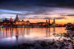 old city sunset