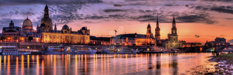 old city sunset Panorama