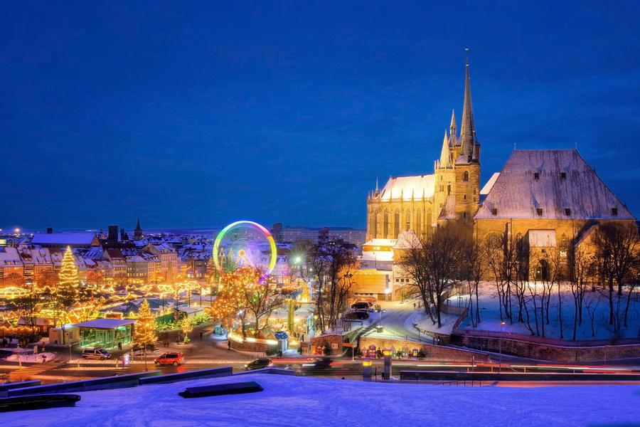 Erfurt x-mas Market at Night by stg123