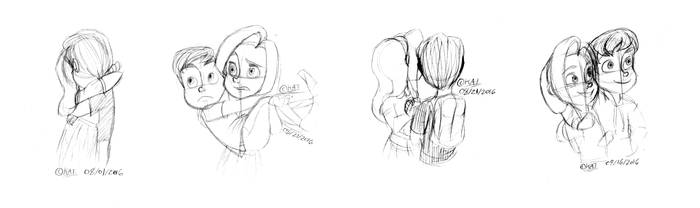 Jeremy and Madeline Sketches by Kat11120