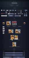 Pandora UI for iOS Designers