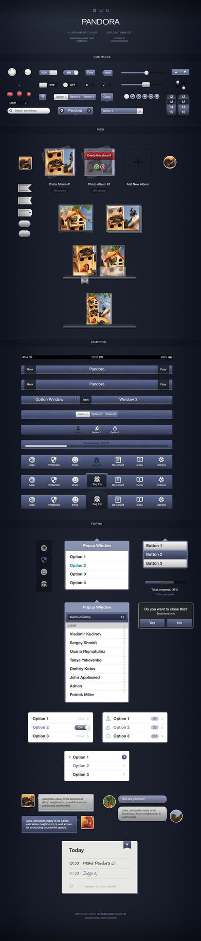 Pandora UI for iOS Designers by vladimirkudinov